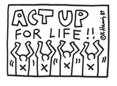 Keith Haring, Untitled, Black marker on white paper, United States, circa 1989