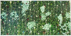 Green Painting of an Abstract Forest - Urban Jungle II - Oil on Canvas