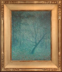 Twilight, American Impressionist Landscape, 1920's, Oil on Canvas, Framed