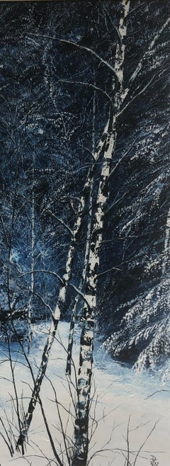 Snow Birches. Contemporary Landscape Painting