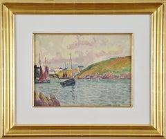Au Port by LUDOVIC-RODO PISSARRO - Post impressionist watercolour of port scene