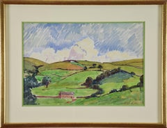 Paysage by LUDOVIC-RODO PISSARRO (1878-1952) - Pastoral watercolour on paper