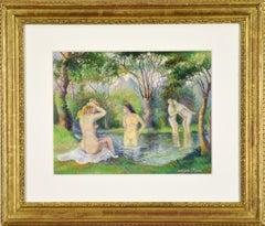 Baigneurs sur la Rivière (Bathers on the River) art by Georges Manzana Pissarro