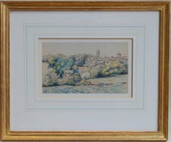 Shaftesbury by Lucien Pissarro - Early 20th century landscape work on paper