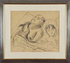 Sunita and her Son by Sir Jacob Epstein - Work on paper by Modernist artist