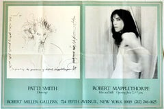 Robert Mapplethorpe Patti Smith 1978 exhibit poster