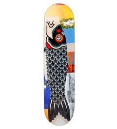Robert Rauschenberg skateboard deck (Rauschenberg Double Luck)
