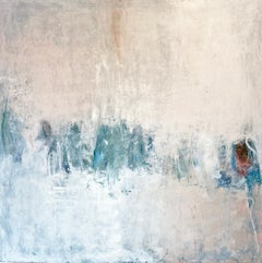 Oil & cold wax painting, Sandrine Kern, Winter White Out