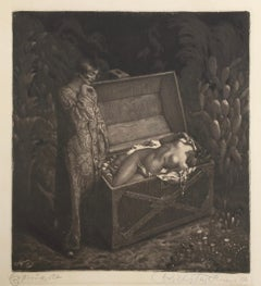 1001  Nights - SURREALIST WOMAN  DEAD IN A TREASURE BOX