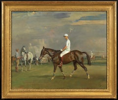 Robert Strawbridge II (1896-1986) on his bay polo pony