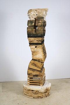 """""""Point of Departure 5"""", Leslie Zelamsky, sculpture, cedar, architectural"""
