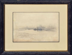 Landscape of Boats at San Francisco Port 1887