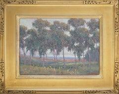 Eucalyptus Flower Field Coastal Landscape by William Dorsey