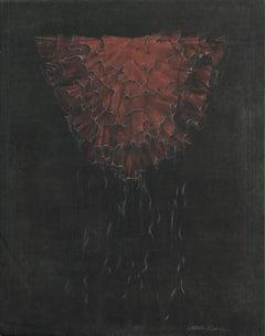 """Red Medusa Mantle"" (Ruffled Kimono) - Hand Augmented Collotype"
