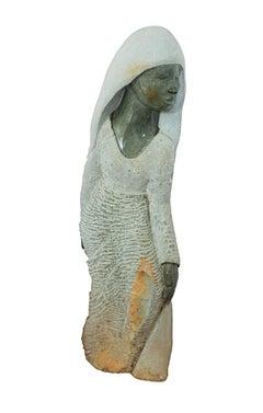 """Traditional Dresser,"" Opal Stone Sculpture by Shona Sculptor Washington Msonza"