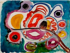 """""""Biomorphic Flowers"""" original watercolor painting by Sylvia Spicuzza"""