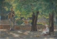Painter in the Jardin de Luxembourg, Paris