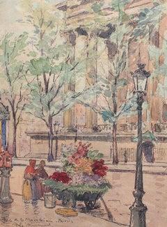 Flower Seller, Place de la Madeleine - Paris 1890s