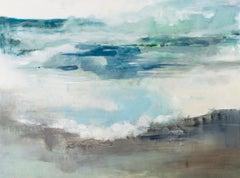 Breaking Blue by J Austin Jennings Large Rectangular Framed Abstract Landscape