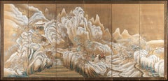 Snowy Landscape Panel - by Takahashi Sohei