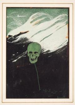 Illustration for Avanti! - Original Mixed Media by B. Angoletta - Early 1900
