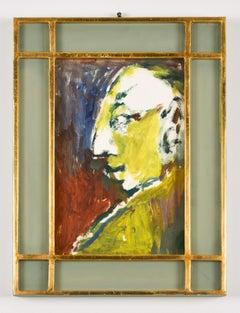Portrait - COriginal Tempera by by M. Maccari - 1970s