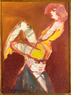 The Acrobat - Original Tempera by M. Maccari - 1950s