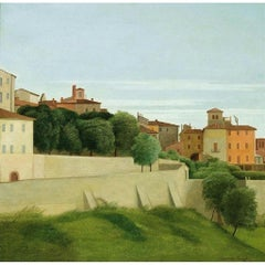 Landscape (View of Perugia) - Oil on Canvas by A. Donghi - 1939