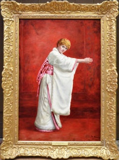 Girl in a Kimono - 19th Century Portrait of Red Haired Beauty
