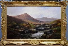 On the Tavy - 19th Century Landscape Oil Painting of Dartmoor Sherlock Holmes