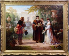 Katherine & Petruchio, 19th Century Oil Painting Shakespeare Taming of the Shrew