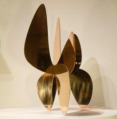Barricada #9 bp M, Abstract Sculpture, Bronze