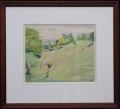 Hampstead from Parliament Hill - 30's landscape Irish artist London parklands