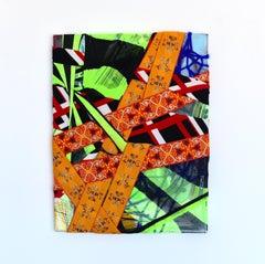 Stadtansichten (abstract textile fabric mixed media sustainable art design pop)