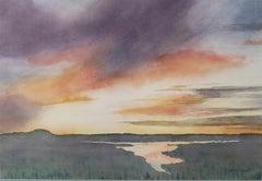 Sunset over the Marsh, Original Painting