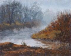 The Quiet of the River Fog, Original Painting