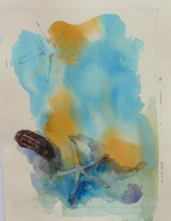 Ocean Bottom, Abstract Painting