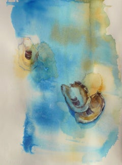 Asian Oysters, Abstract Painting