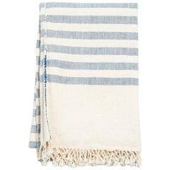 AARI Handloom Indigo Stripes Throw / Blanket in Organic Cotton