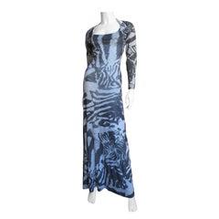 Aexander McQueen Backless Maxi Dress