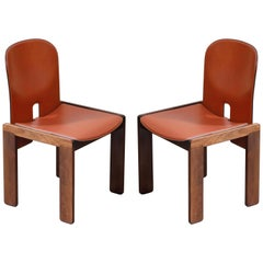 Afra and Tobia Scarpa Model 121 Rosewood Side Chairs for Cassina, Signed