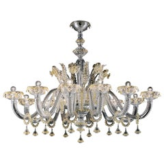 Agadir 5384 12 Chandelier in Glass, by Barovier & Toso
