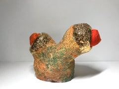 Ceramic and textile sculpture: 'No. 10'