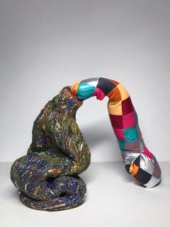 Ceramic and textile sculpture: 'No. 3'