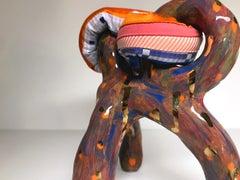 Ceramic and textile small sculpture: 'No. 15'