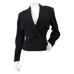 Alaia 1980s Double Breasted Wool Blazer