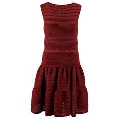 Alaia Burgundy Knit Dress M