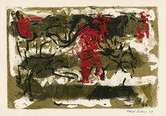 Untitled Abstraction (Figures in Red)