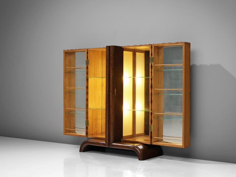 Aldo Tura Bar Cabinet in Cherry In Good Condition For Sale In Waalwijk, NL