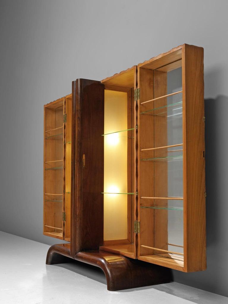 Mid-20th Century Aldo Tura Bar Cabinet in Cherry For Sale